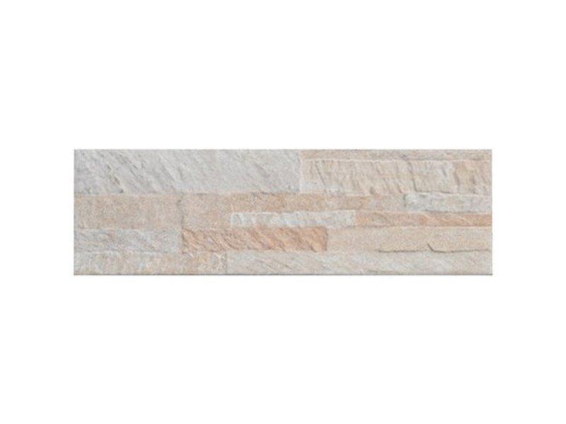 Wandverblender Quarzito Weiß Steinzeug Glasiert Matt 15 Cm X 495