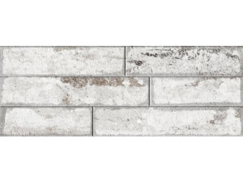 Wandverblender Bailen Weiß glasiert matt - 22,5 cm x 60 cm x 0,8 cm