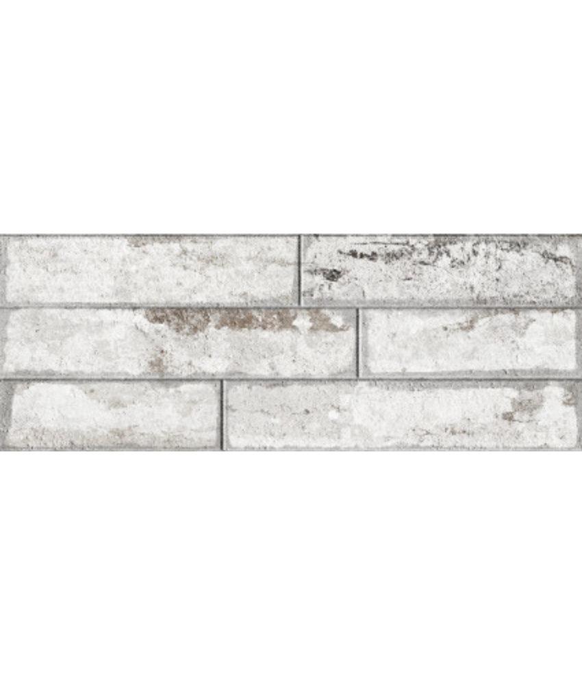 Wandverblender Avant Weiß glasiert matt - 22,5 cm x 60 cm x 0,8 cm