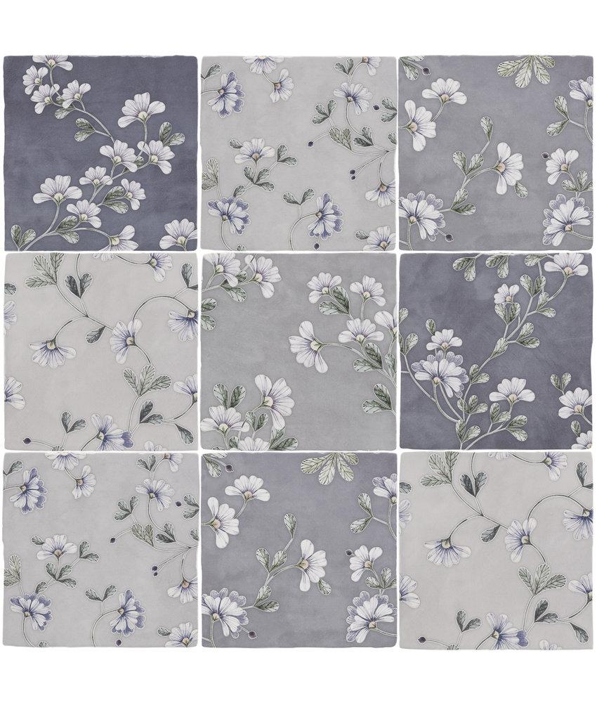 BÄRWOLF Ambience Spatolato Blossom Blue Random Mix - 13 cm x 13 cm