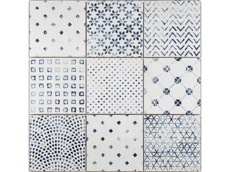BÄRWOLF BÄRWOLF Ambience Delft Modern Vintage (Random Mix) - 18,5 cm x 18,5 cm x 0,8