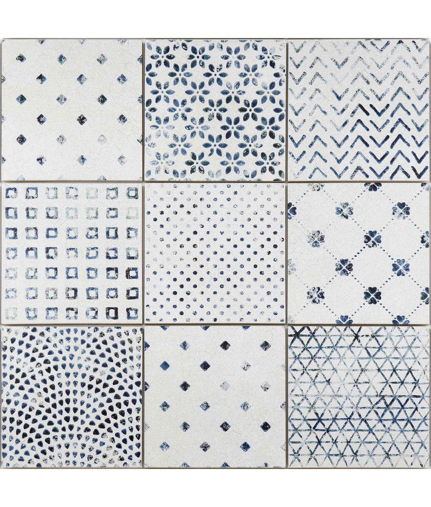 BÄRWOLF Ambience Delft Modern Vintage (Random Mix) - 18,5 cm x 18,5 cm x 0,8