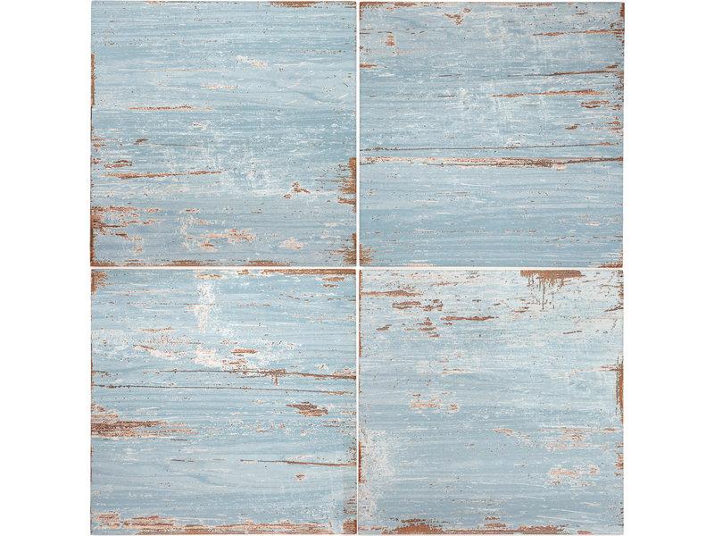 BÄRWOLF BÄRWOLF Ambience Vintage Wood Blue - 18,5 cm x 18,5 cm x 0,8