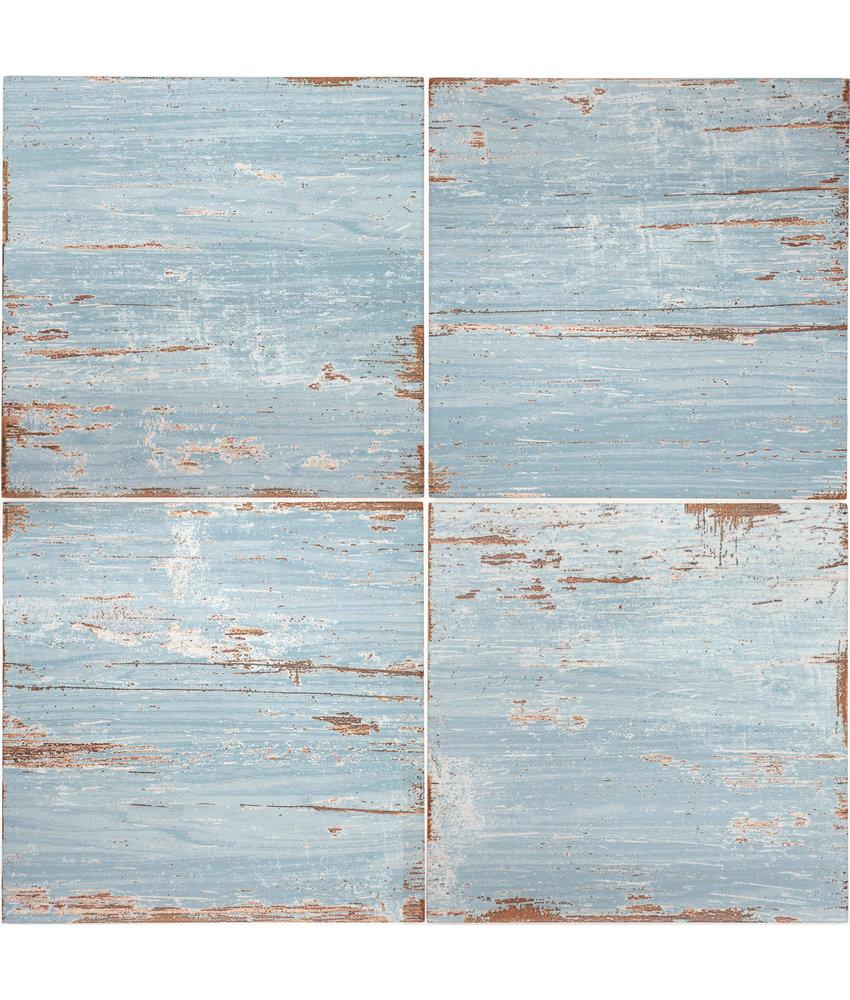 BÄRWOLF Ambience Vintage Wood Blue - 18,5 cm x 18,5 cm x 0,8