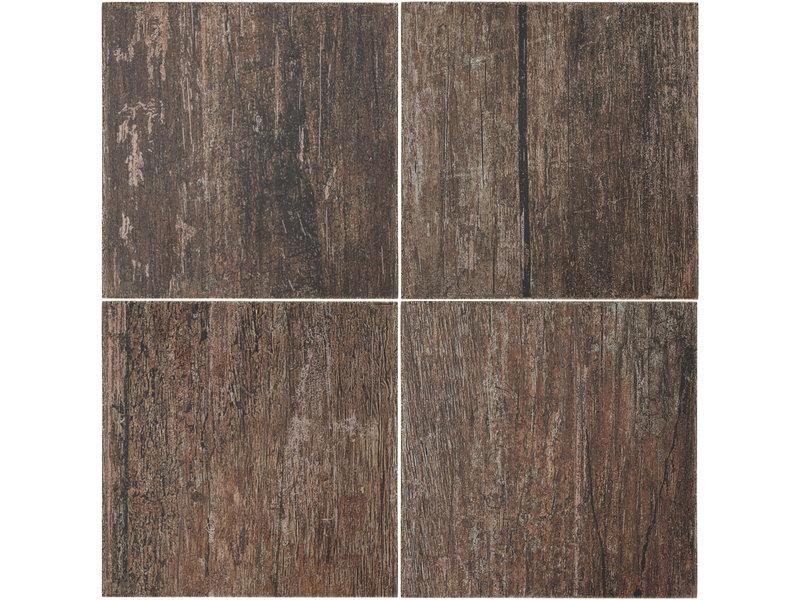 BÄRWOLF BÄRWOLF Ambience Vintage Wood Brown - 18,5 cm x 18,5 cm x 0,8
