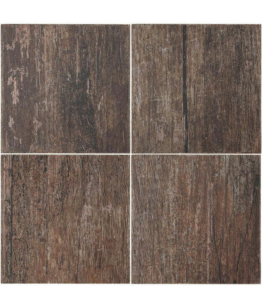 BÄRWOLF Ambience Vintage Wood Brown - 18,5 cm x 18,5 cm x 0,8