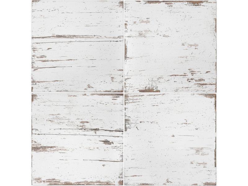 BÄRWOLF BÄRWOLF Ambience Vintage Wood White - 18,5 cm x 18,5 cm x 0,8 cm