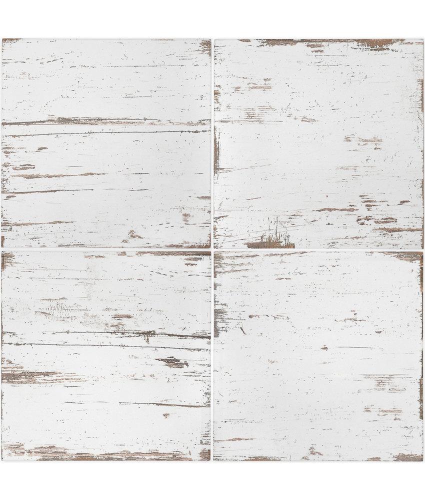 BÄRWOLF Ambience Vintage Wood White - 18,5 cm x 18,5 cm x 0,8