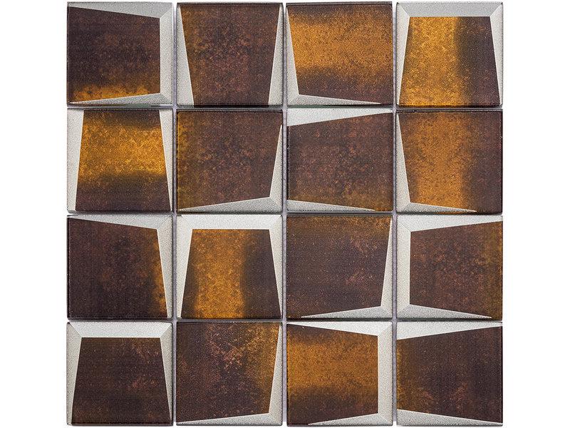 BÄRWOLF BÄRWOLF Mosaic Retro Rusty Brown - 29.8 cm x 29.8 cm x 0,8