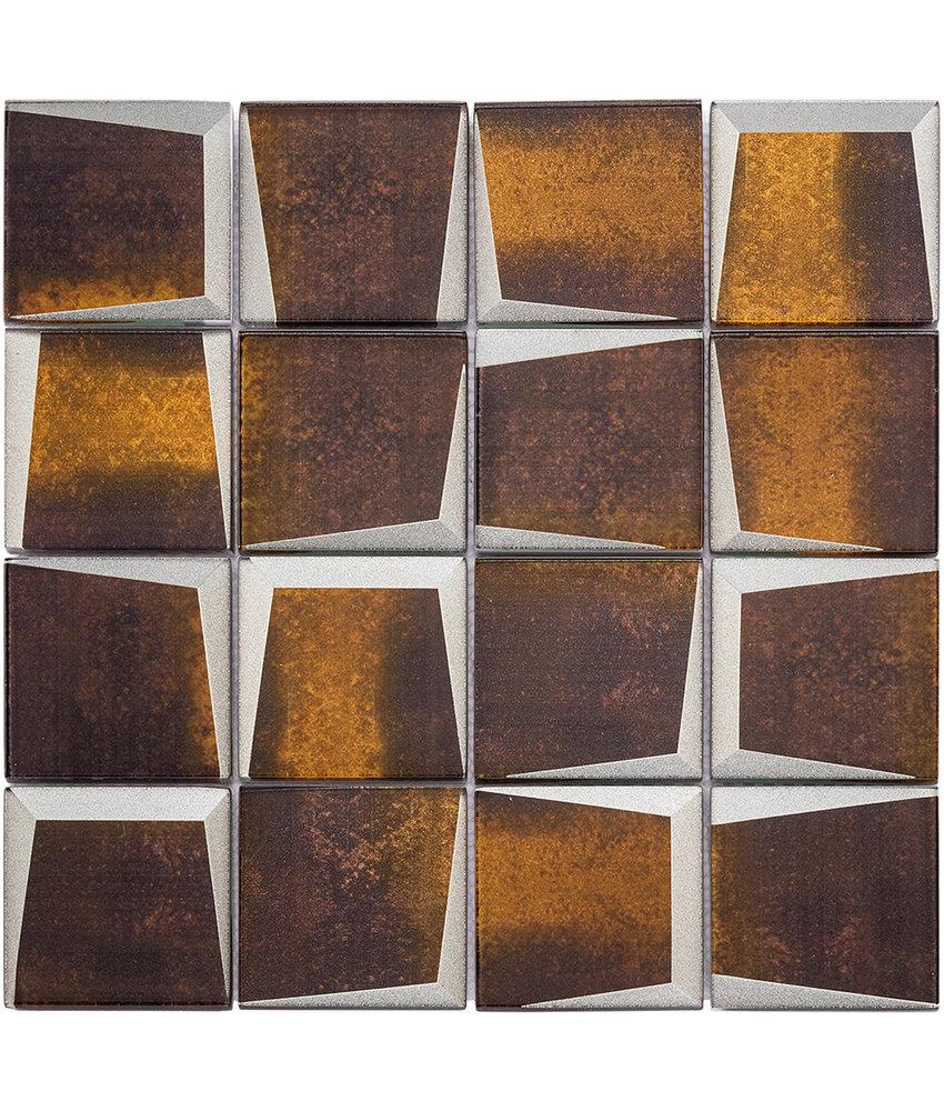 BÄRWOLF Mosaic Retro Rusty Brown - 29.8 cm x 29.8 cm x 0,8