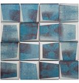 BÄRWOLF BÄRWOLF Mosaic Retro Oxid Blue - 29.8 cm x 29.8 cm x 0,8