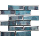 BÄRWOLF BÄRWOLF Mosaic Retro Oxid Blue Long - 29.8 cm x 29.8 cm x 0,8