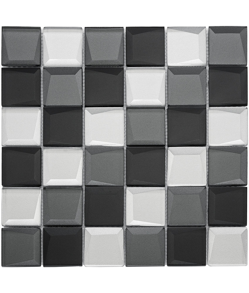BÄRWOLF Mosaic Galaxy Black Mix - 29.8 cm x 29.8 cm x 0,8