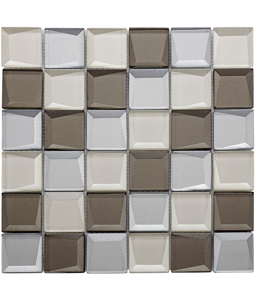 BÄRWOLF Mosaic Galaxy Beige Mix - 29.8 cm x 29.8 cm x 0,8