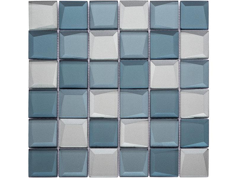 BÄRWOLF BÄRWOLF Mosaic Galaxy Blue Mix - 29.8 cm x 29.8 cm x 0,8