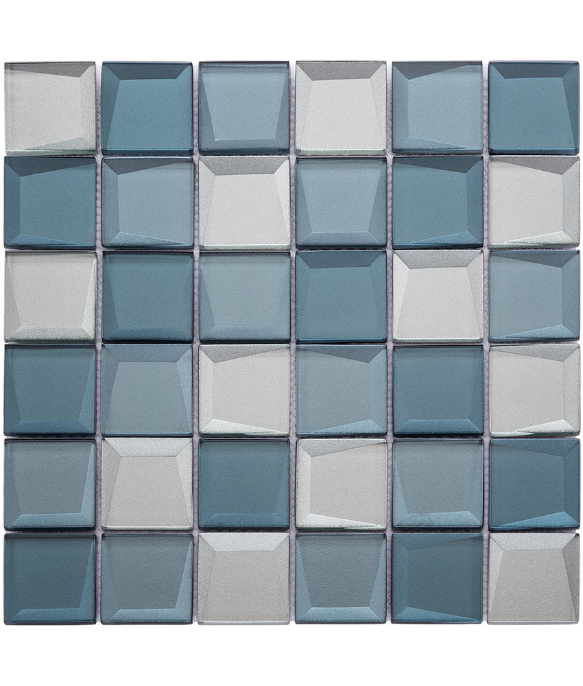 BÄRWOLF Mosaic Galaxy Blue Mix - 29,8 cm x 29,8 cm x 0,8