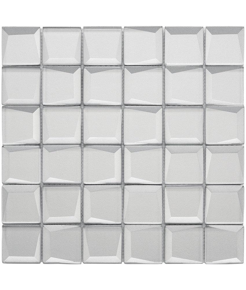 BÄRWOLF Mosaic Galaxy Silver - 29.8 cm x 29.8 cm x 0,8