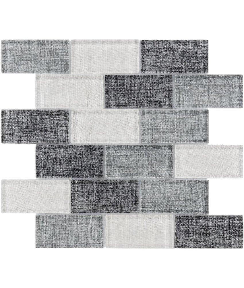 BÄRWOLF Mosaic Tex-Line Ice  Grey Mix - 29,8 cm x 29,8 cm x 0,8