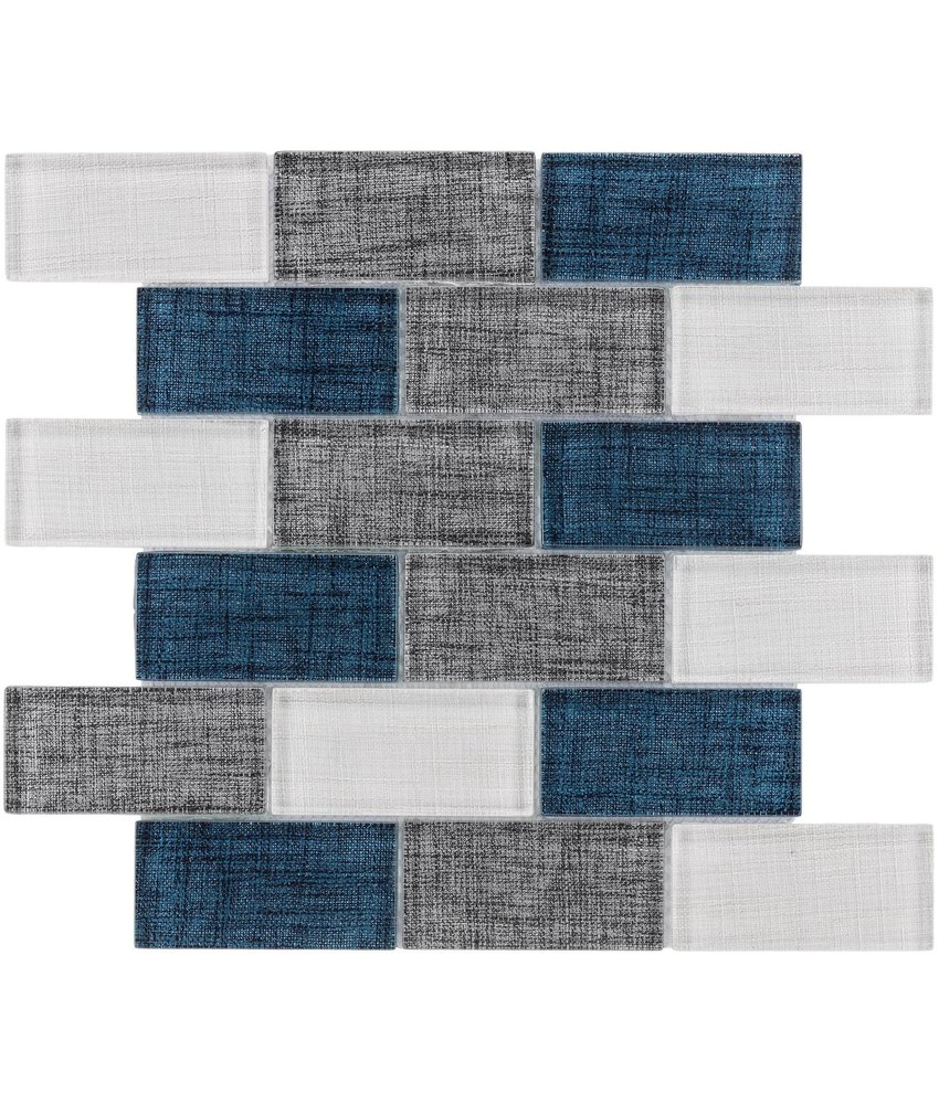BÄRWOLF Mosaic Tex-Line Denim Blue Mix - 29,8 cm x 29,8 cm x 0,8