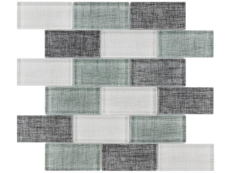 BÄRWOLF BÄRWOLF Mosaic Tex-Line Ocean Green Mix - 29.8 cm x 29.8 cm x 0,8