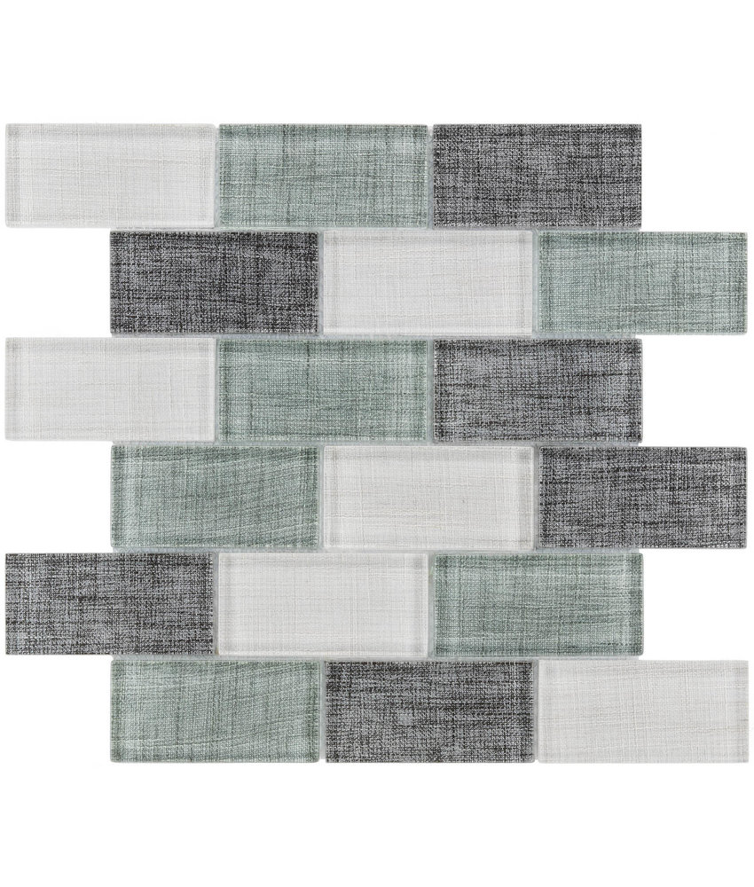 BÄRWOLF Mosaic Tex-Line Ocean Green Mix - 29,8 cm x 29,8 cm x 0,8
