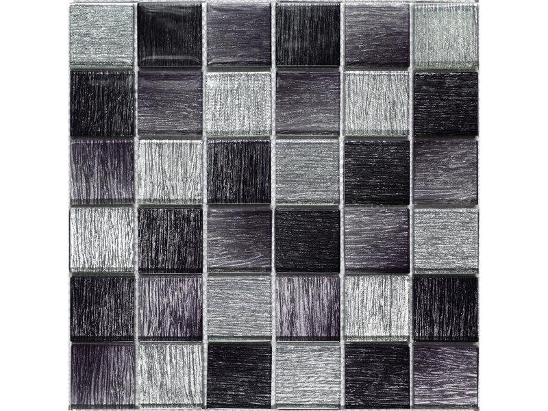 BÄRWOLF BÄRWOLF Mosaic Glamour Diamond Black - 29.8 cm x 29.8 cm x 0,8