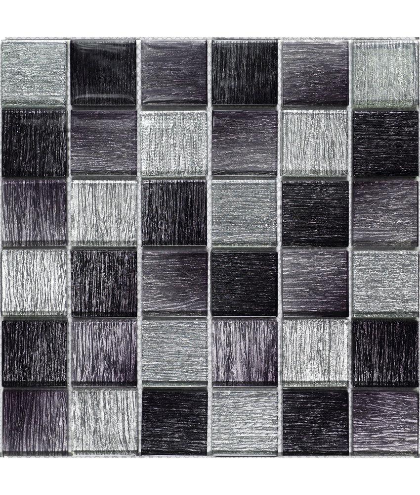 BÄRWOLF Mosaic Glamour Diamond Black - 29.8 cm x 29.8 cm x 0,8