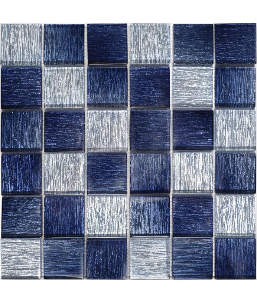 BÄRWOLF Mosaic Glamour Saphire Blue - 29.8 cm x 29.8 cm x 0,8