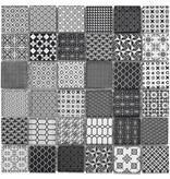 BÄRWOLF BÄRWOLF Mosaic Grafico Black White- 29.8 cm x 29.8 cm x 0,8