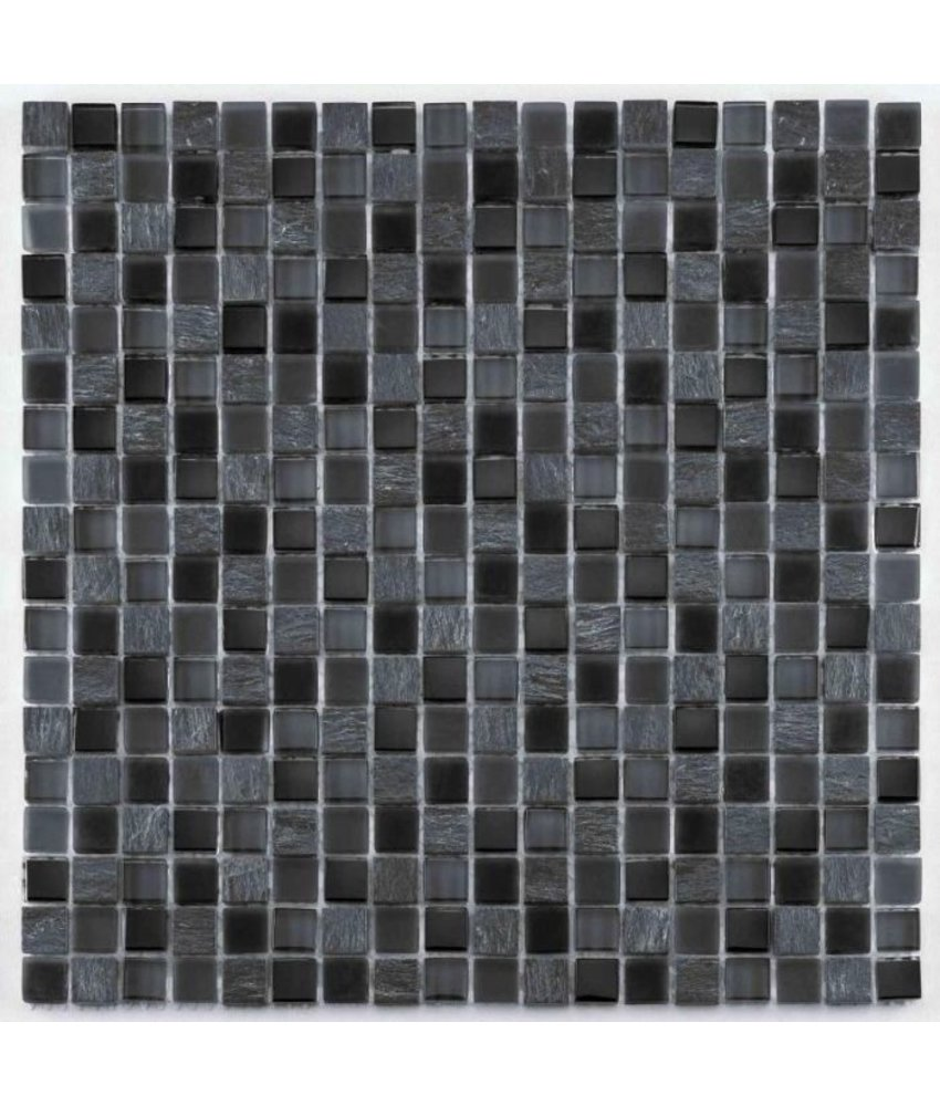 BÄRWOLF Mosaic San Remo Anthracite Mix - 29.8 cm x 29.8 cm x 0,8