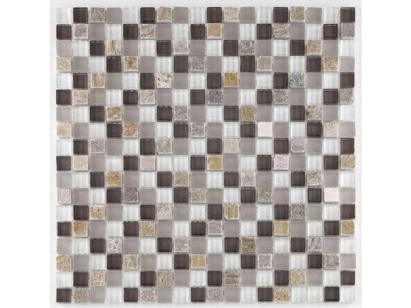BÄRWOLF BÄRWOLF Mosaic San Remo Taupe Lightrustic - 29,8 cm x 29,8 cm x 0,8