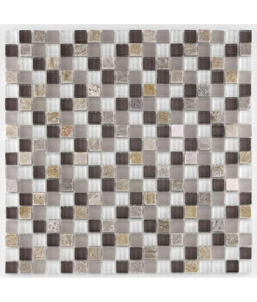 BÄRWOLF Mosaic San Remo Taupe Lightrustic - 29.8 cm x 29.8 cm x 0,8