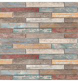 BÄRWOLF BÄRWOLF Mosaic Beachhouse Color Mauerverband Mix - 29.7 cm x 42,6 cm x 1
