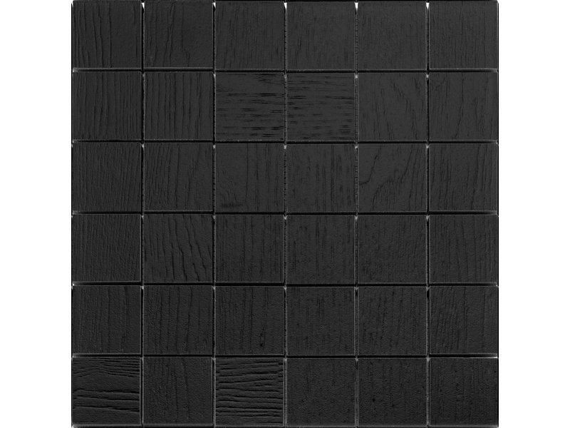 BÄRWOLF BÄRWOLF Mosaic Wood Coal Black - 29.5 cm x 29,5 cm x 1