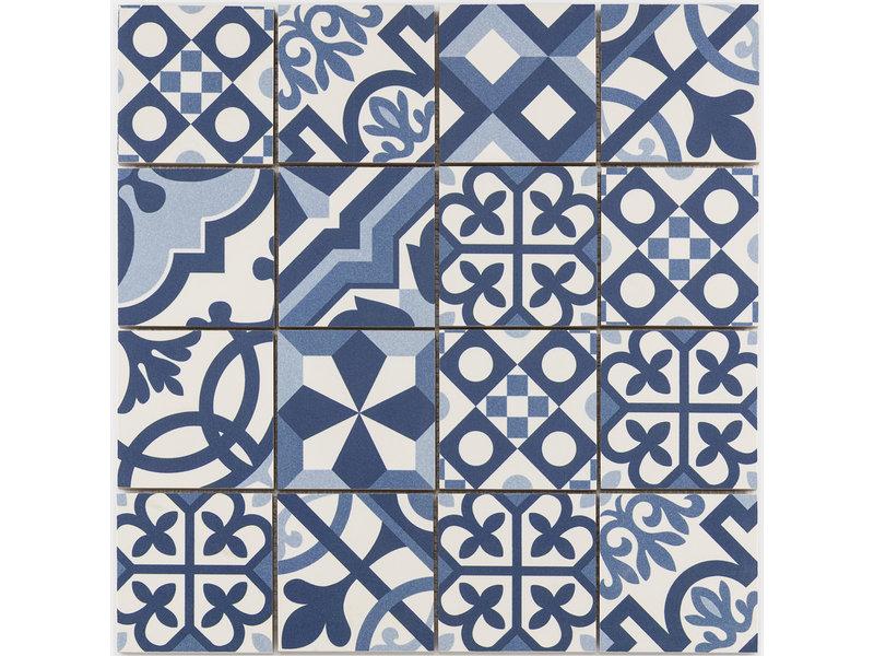 BÄRWOLF BÄRWOLF Mosaic Patchwork Blue - 31,8 cm x 31,8 cm x 0,7 cm