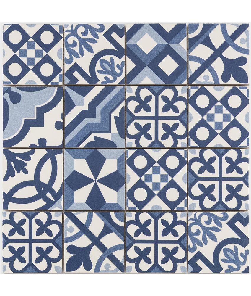 BÄRWOLF Mosaic Patchwork Blue - 31,8 cm x 31,8 cm x 0,7 cm