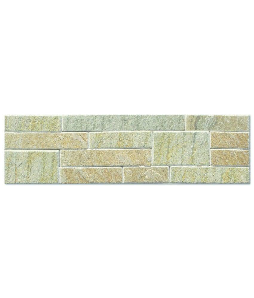 Wandverblender Naturstein Quarzit Beige Multiformat - 10 cm x 40 cm