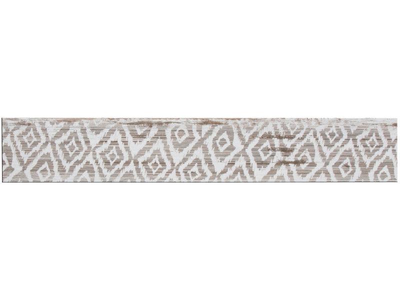 Bodenfliese Enygma Weiß Accessory 5 Motive glasiert - 15 cm x 90 cm x 1 cm