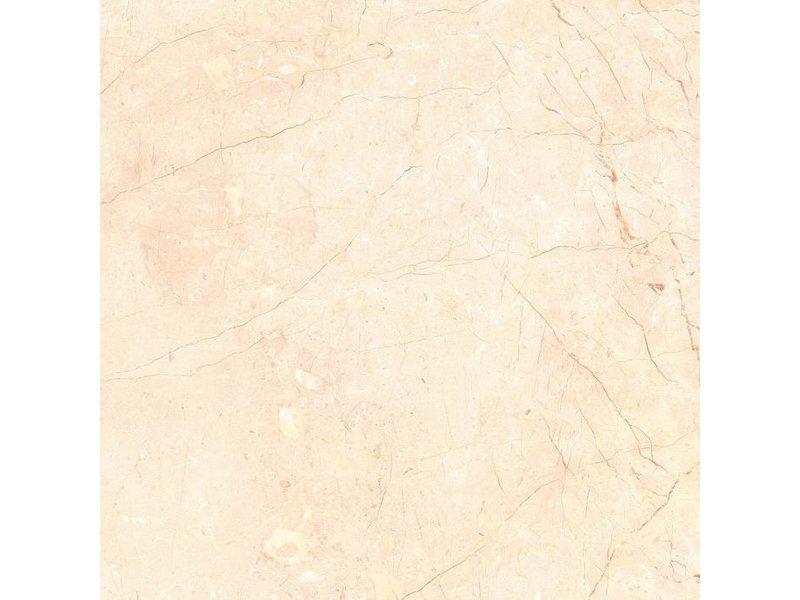 Bodenfliese Merkur Crema Beige  Feinsteinzeug Natursteinoptik poliert - 60 cm x 60 cm x 1 cm