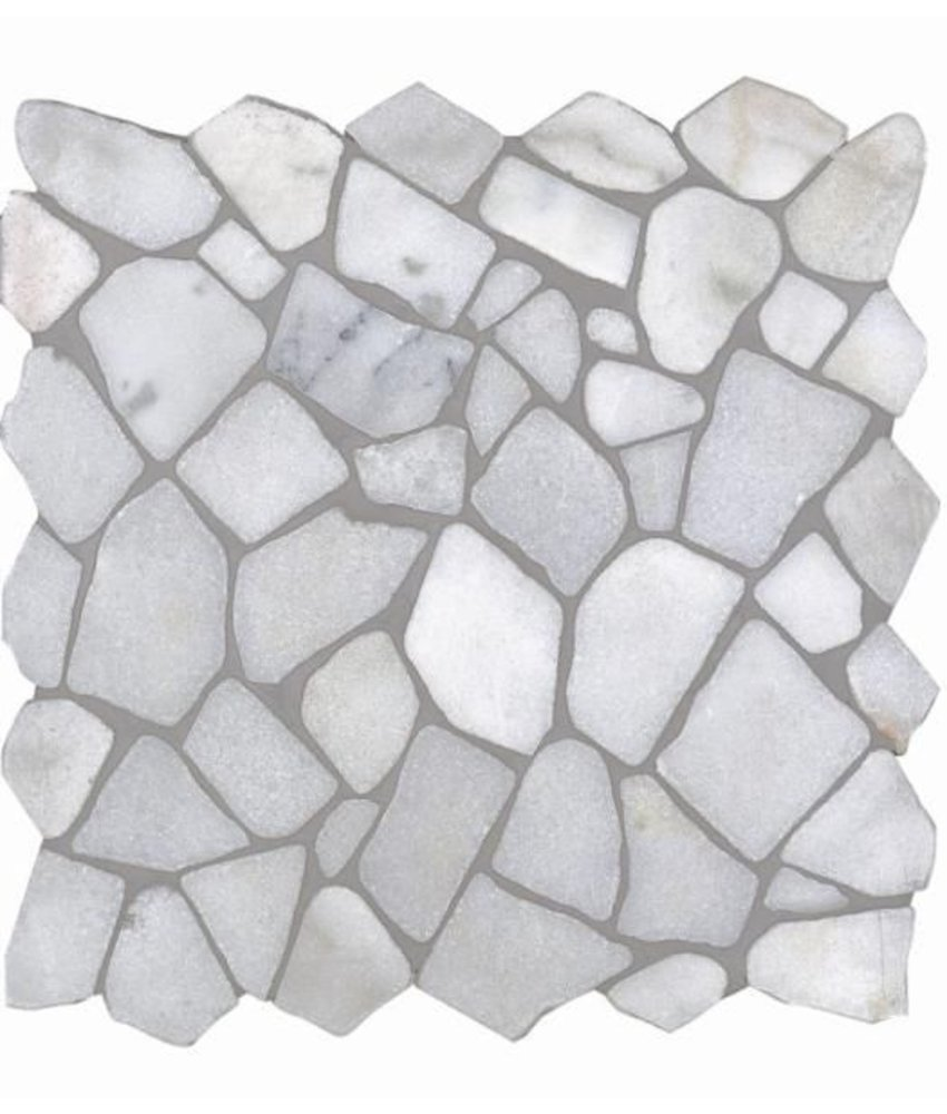 Natursteinfliesen RM-0001 Crush Bianco Carrara
