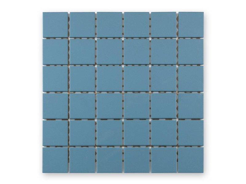 BÄRWOLF Keramik Mosaikfliesn UG-5060 Grip blau unglasiert