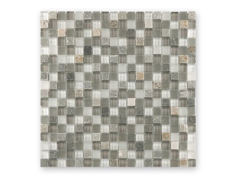 BÄRWOLF Materialmixmosaik-Fliesen GL-15022 Tuscany white lightrustic mix