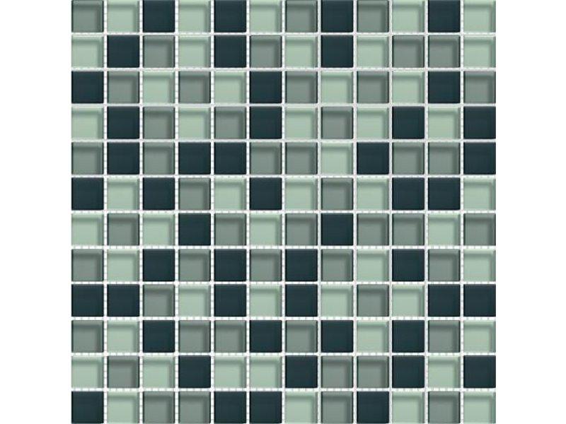 BÄRWOLF Glasmosaik-Fliesen GL-2343 Translucent graphit mix