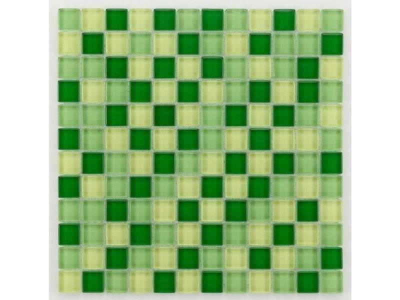 BÄRWOLF Glasmosaik-Fliesen GL-2441 Translucent fresh green mix