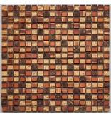 BÄRWOLF Materialmix-Mosaikfliesen GL-2489 Tuscany golden red