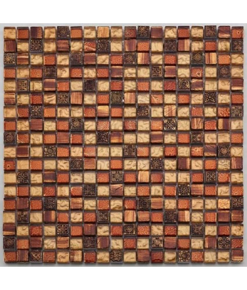 Materialmix-Mosaikfliesen GL-2489 Tuscany golden red