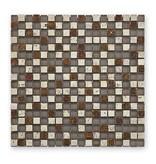BÄRWOLF Materialmix-Mosaikfliesen GL-2490 Tuscany antik silver