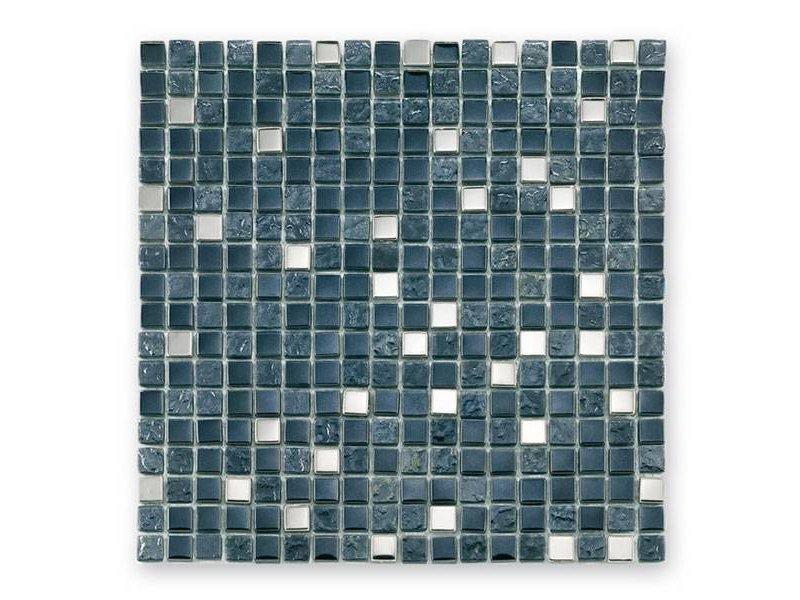 BÄRWOLF Materialmix-Mosaikfliesen GL-2495 Tuscany metal black