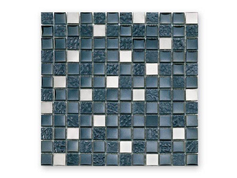 BÄRWOLF Materialmix-Mosaikfliesen GL-2496 Tuscany metal black