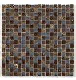 BÄRWOLF Materialmix-Mosaikfliesen GL-2497 Tuscany brown